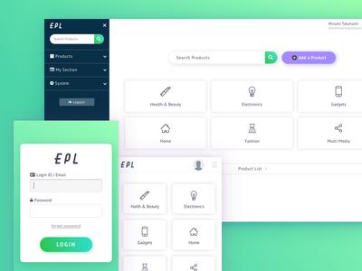 Dashboard responsive UI