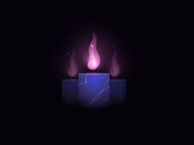 Candle motiondesign aftereffects magic darkness organic wax melt spark fire candle