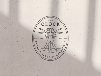 The Clock Coin witchy figure logo coin illustration lady