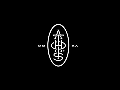 Cosmetics Badge monogram icon logo design black and white black branding and identity branding blackandwhite