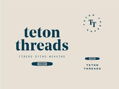 Teton Threads jackson wyoming weaving weave thread navy branding logo