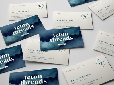 Teton Threads Business Cards