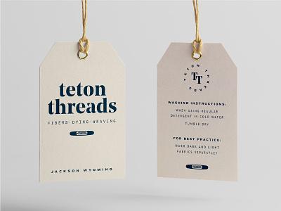 Teton Threads Hang Tag shuttle wyoming jackson weaving clothing blue branding tag