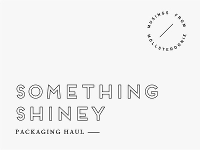 Packaging Haul Template holographic blog packaging