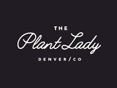 The Plant Lady logo design black and white branding