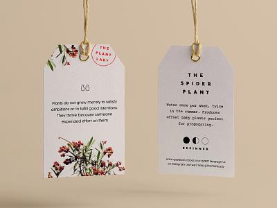 Hang Tag plant branding print
