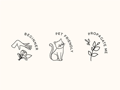 The Plant Lady Icons branding stamps illustration icons