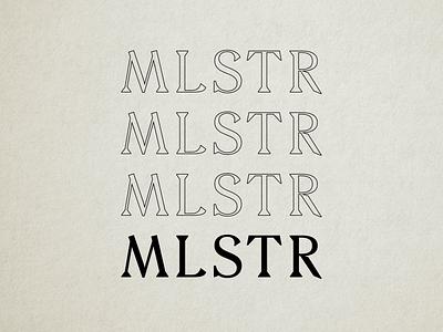 MLSTR (Mollsteroonie) Explorations acronym serif texture black and white branding