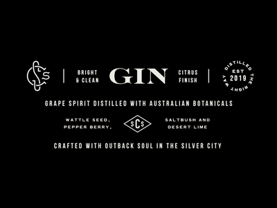Outback Gin alcohol gin sprits logo black and white branding