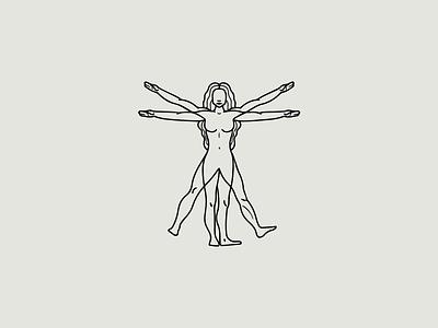 Vitruvian Woman blackandwhite figure woman sketch