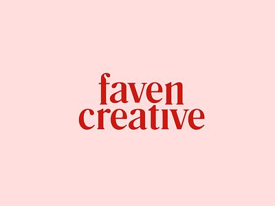 Faven Creative Identity logo branding feminie brand identity typography retro serif pink