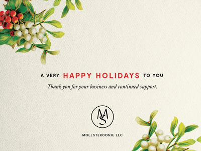 Holiday Card christmas branding greeting card botanical holiday