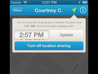 Location Sharing foursquare ios6