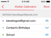 7 visible calendars