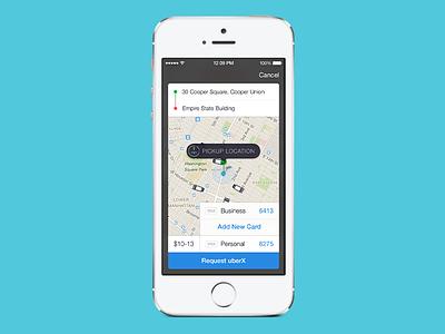 Uber Integration ios mobile uber modal