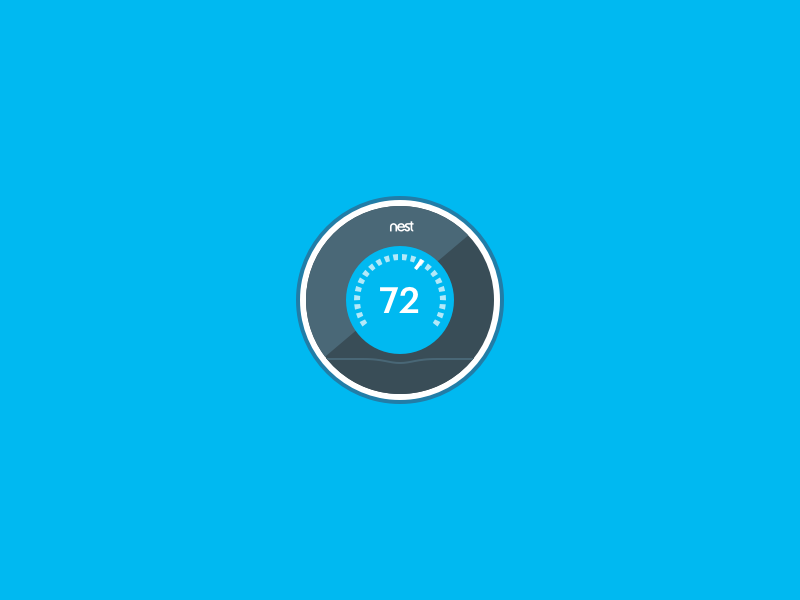 nest thermostat icon by ben gold dribbble