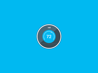 Nest Thermostat Icon illustration nest thermostat icon