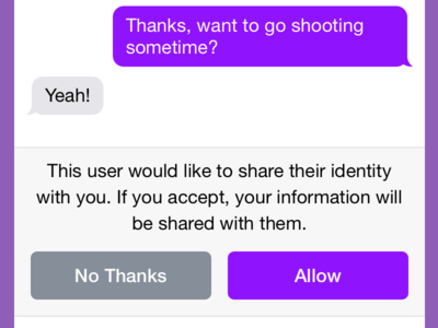 Sharing Personal Info In Anonymous Apps