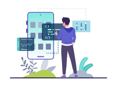 Web App Illustration