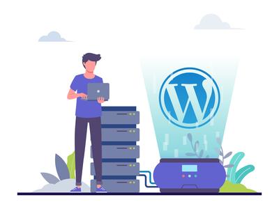 Wordpress Server Illustration