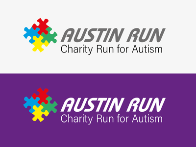 Austin Run - Charity Run For Autism -ThirtyLogos thirtylogos logo austin run
