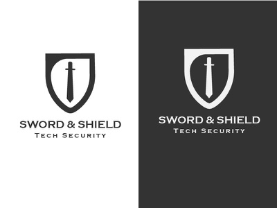 Sword & Shield Logo Design 12 thirtylogos challenge logo design logo