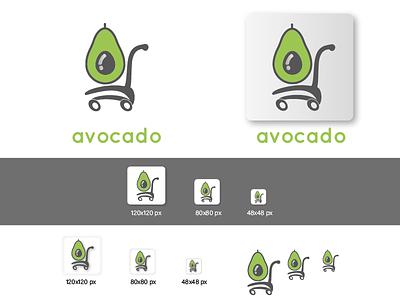 D Avocado Logo Design Icons Challenge 24 thirtylogos san-claire logo design logo challenge