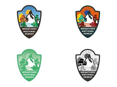 Wenatchee National Forest Logo Design Challenge 25 thirtylogos san-claire logo design logo challenge