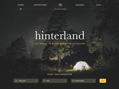 Falling Leaves : Experience the outdoors logo travel ux ui web icons icon digital navigation menu grid design