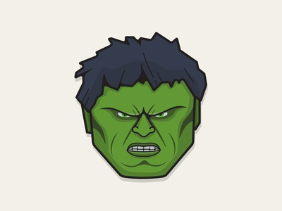 Hulk illustration hulk avatar character icon green angry smash