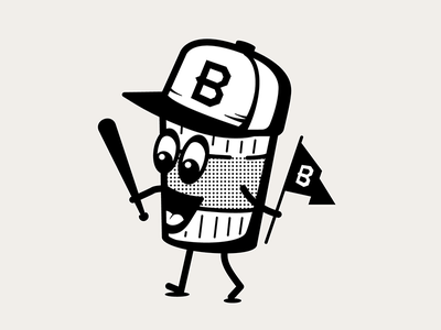 Coffee character brew bat flag snapback cup coffee illustrator character