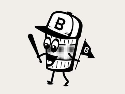 Coffee character brew bat flag snapback cup coffee illustrator character