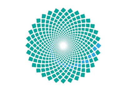 EndPointe Logomark identity logo fibonacci clinical color