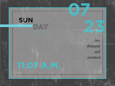 July23 challenge daily calendar typographic