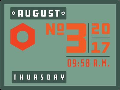 Type Calendar08_03 type challenge design typography