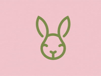 Eco Bunny icons minimal vector logo design logodesign icon design logo iconography icon