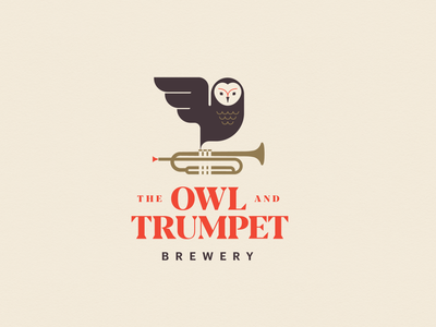 The Owl and Trumpet brand identity brand logo designs beer new zealand auckland logo desginer logodesign design branding vector logo