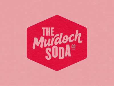 The Murdoch Soda Co design brand identity vector auckland logodesign branding logo