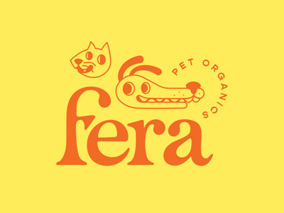 Fera rejected concept graveyard brand mark word mark logo branding illustration serif folksy folk kitty puppy animals pets cat dog pet organics