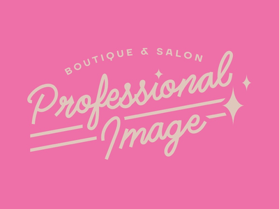 Graveyard boutique stylist haircut pink neon 80s salon logos logo