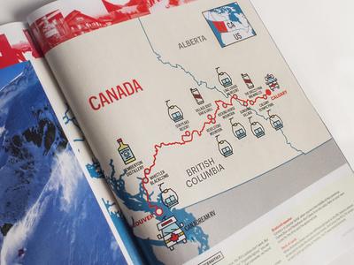 Skiing Magazine rv travel illustration magazine skiing ski