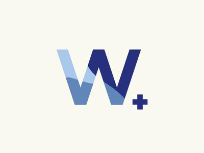 Weller CBD Brand Mark coconut chill cool calm monogram brand mark cannabis logo cannabis cbd weller