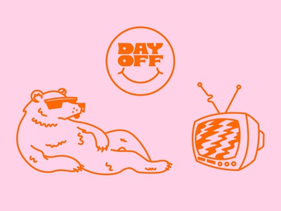 Day Off 80s vintage antenna channel sunglasses lazy do nothing chill polarbear polar bear static tvc side projects just for fun day off
