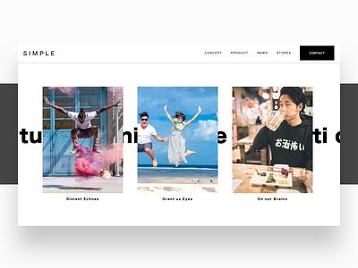 Simple - 41 32 design web black white ux ui