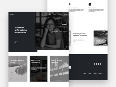 Web Agency Landing Page Concept