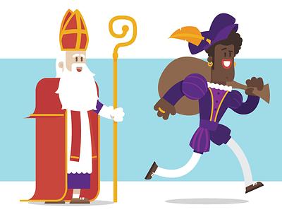 Sinterklaas & Zwarte Piet Illustratie dordrecht illustratie vector 5december pakjesavond zwartepiet sinterklaas
