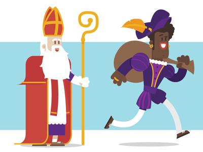 Sinterklaas & Zwarte Piet Illustratie