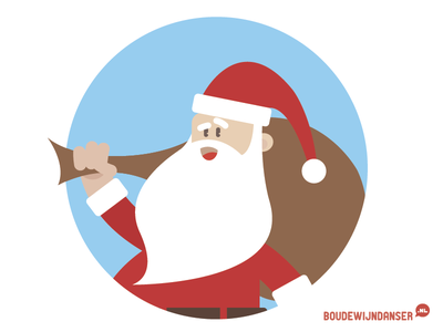 Santa dordrecht illustrator illustratie kerstman