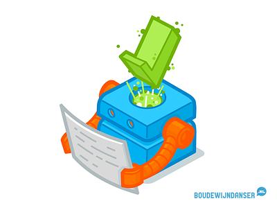Isometric robot dordrecht illustrator illustratie robot