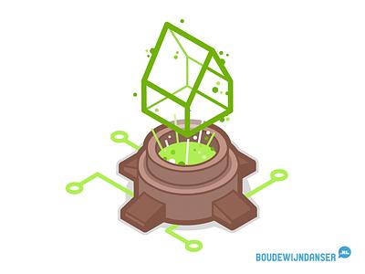 Isometric BIM Bot tno dordrecht illustratie bim isometrie